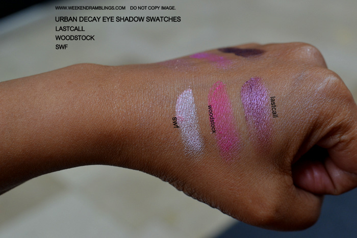 Urban Decay New Purple Plum Pink Eyeshadow Swatches Makeup Beauty Blog SWF Woodstock Lastcall