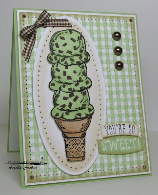 "North Coast Creations ""What's the Scoop"" Card Designer:Angie Crockett"