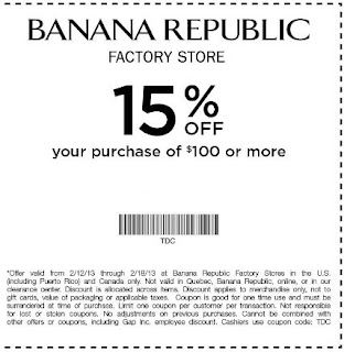 Banana Republic Coupon Codes, Sales & More | October Banana Republic usually posts its promo codes and big sales to the top banner of their homepage. It will scroll through available codes and give you the option to to see more details on each event.5/5(18).