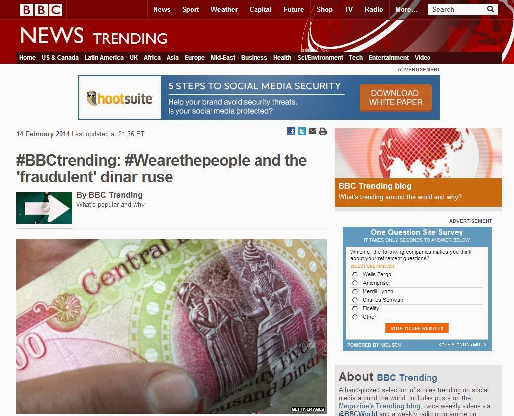 BBC Trending - #Wearethepeople and the 'fraudulent' dinar ruse