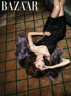 Kim Ah Joong - Harper's Bazaar December 2012