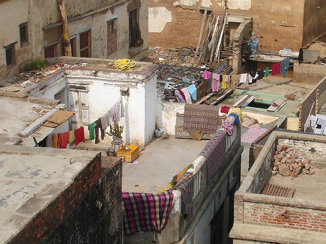 Toits de Varanasi