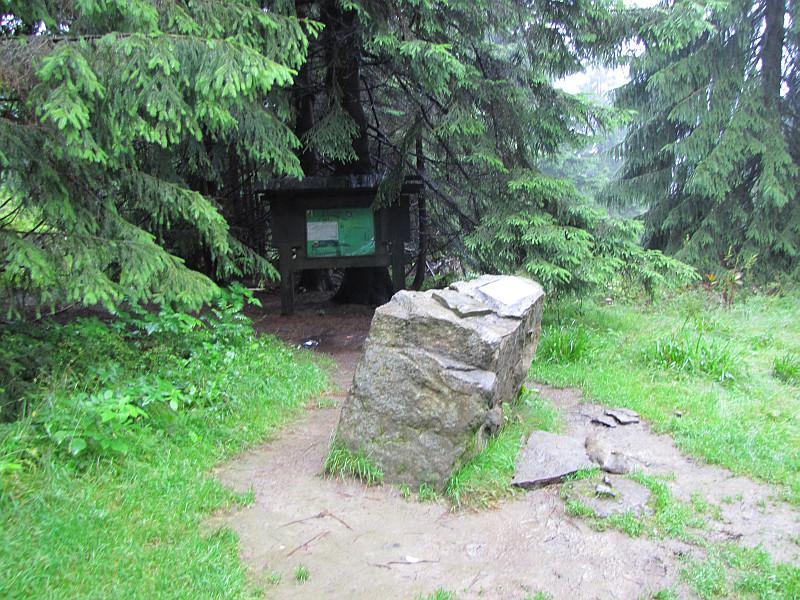 Przełęcz pod Wielkim Jawornikiem (1050 m n.p.m.).