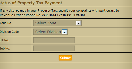 Property Tax Online Payment Chennai