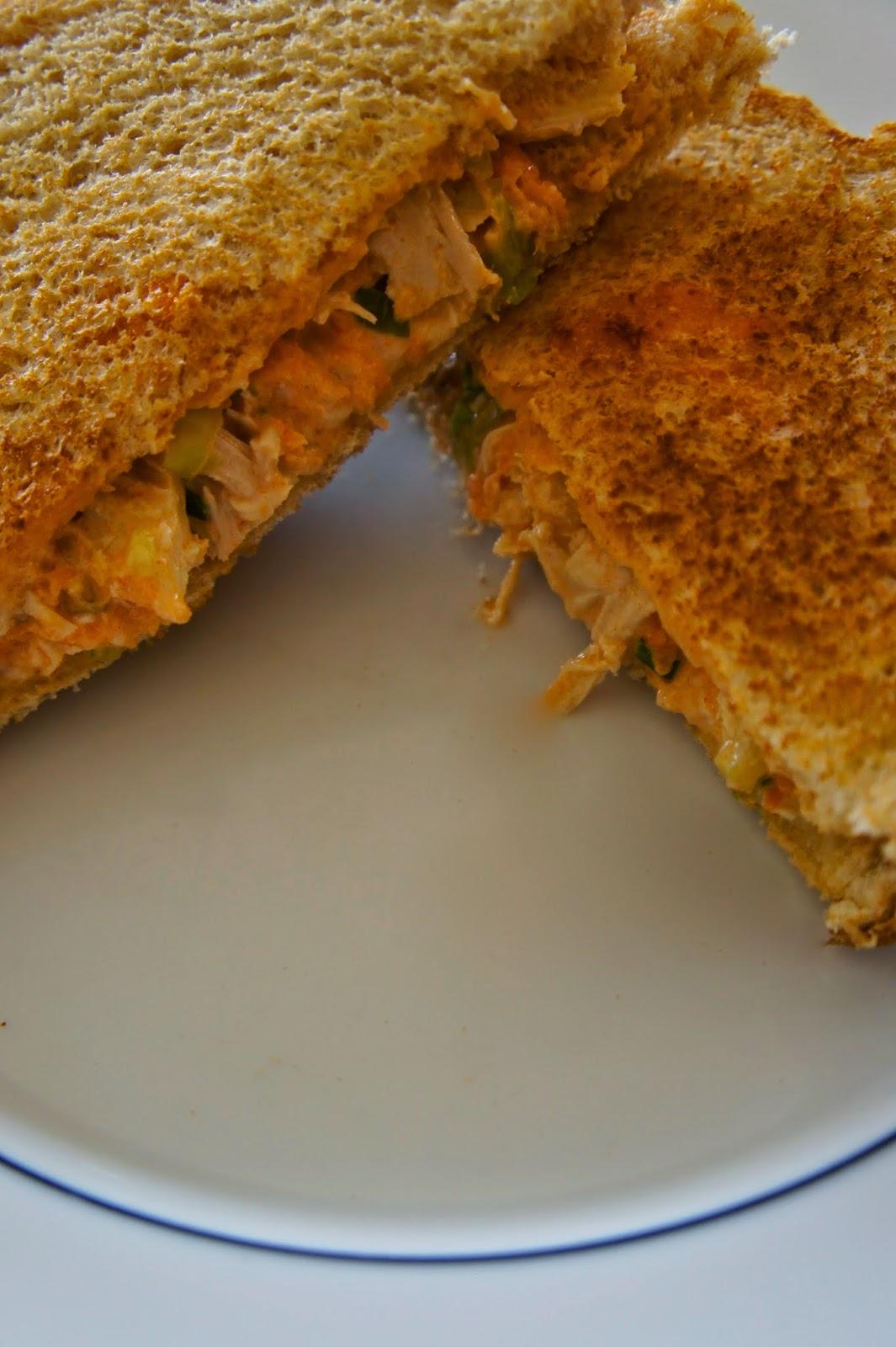 Buffalo Chicken Cheese Sandwich: Savory Sweet and Satisfying