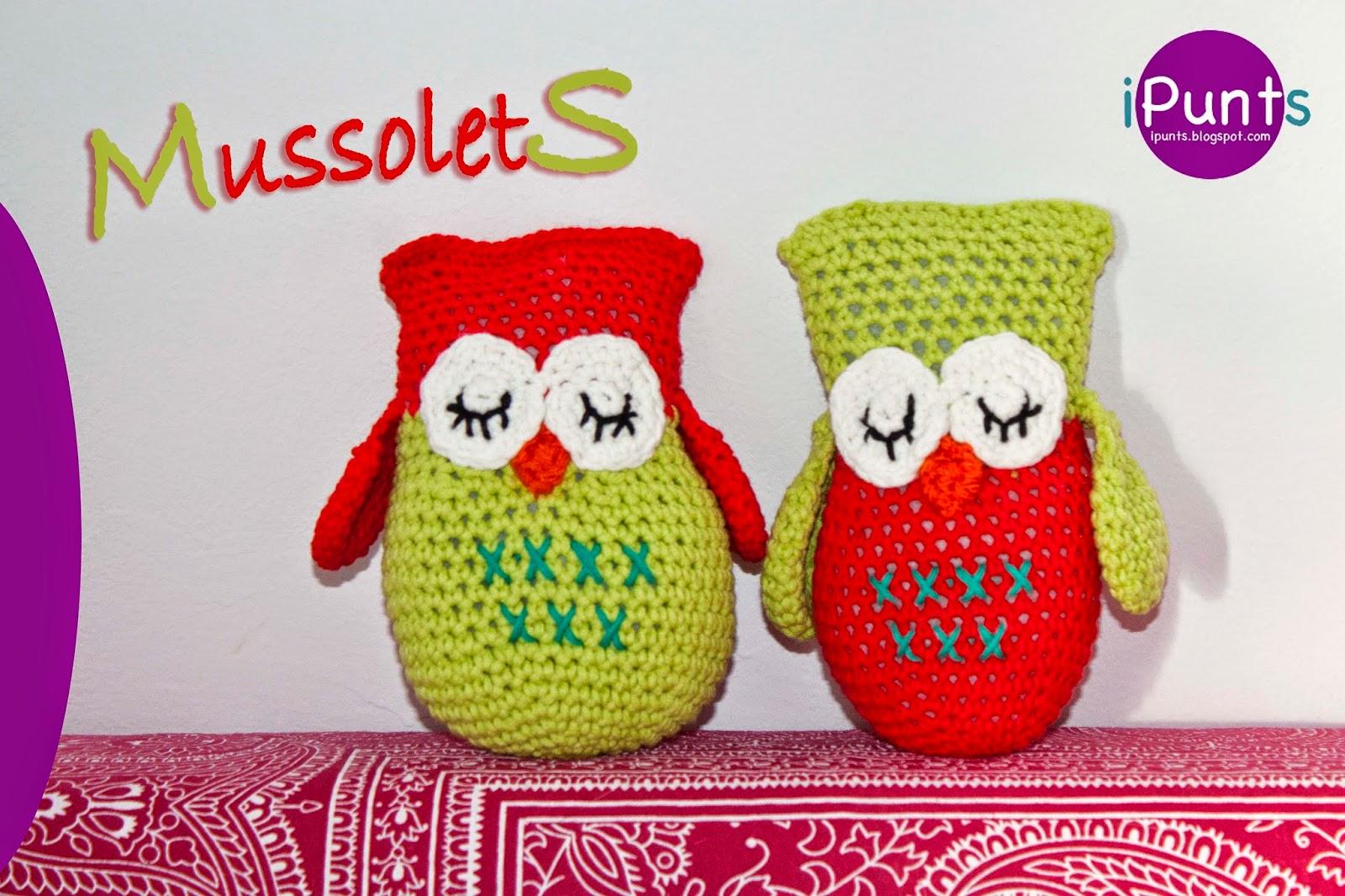 buho patron amigurumi crochet ganchillo lana muñeco ipunts