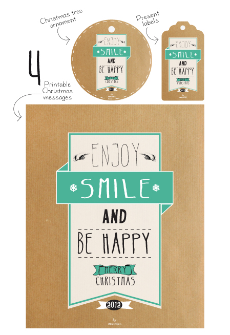 Enjoy, smile and be happy printable