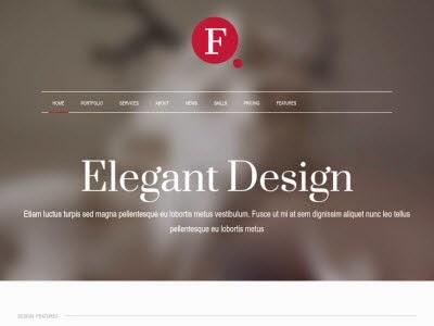 Finale Elegant WordPress Theme