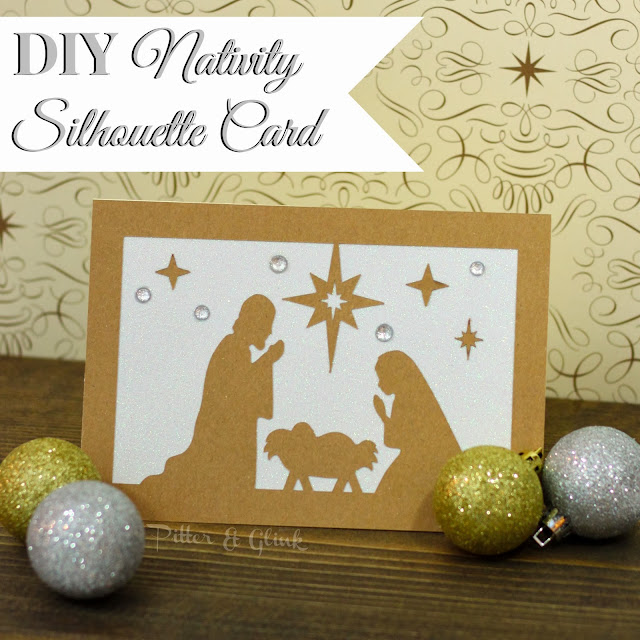 DIY Nativity Silhouette Christmas Card from Pitter and Glink and 35 inspirational Silhouette projects from other talented bloggers!