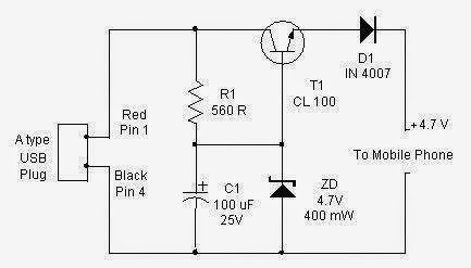 Usb Cellphone Charger Circuit