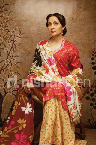 Zeba Bakhtiar Latest Photo Shoot for Nishat Linen Winter Collection    Zeba Bakhtiar 2013