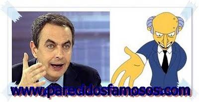 Presidente de España Zapatero con el Señor Burns
