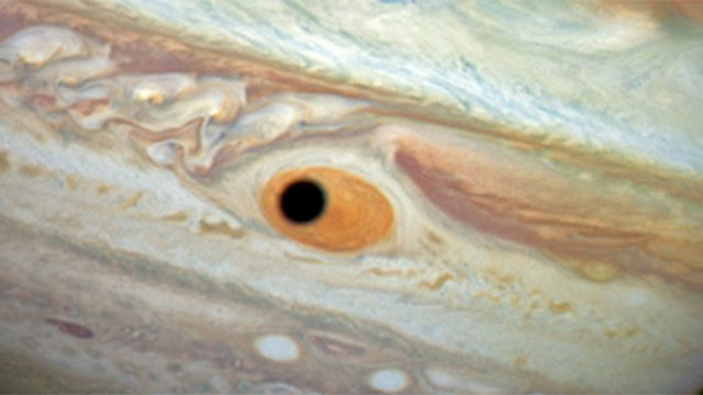 Planetary Shadow that looks like an eye - Jupiter's Giant eye