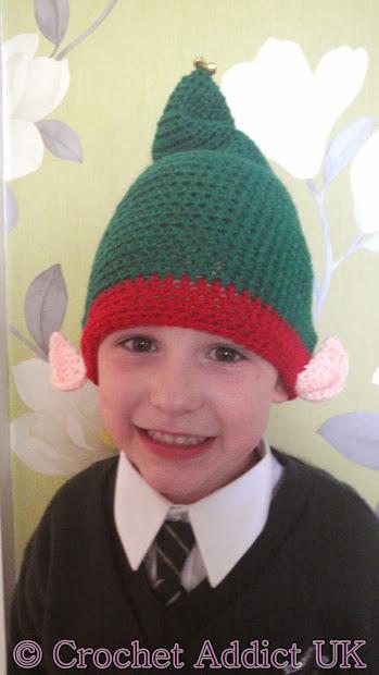 Elf Hat With Ears 3 Yrs Free Crochet