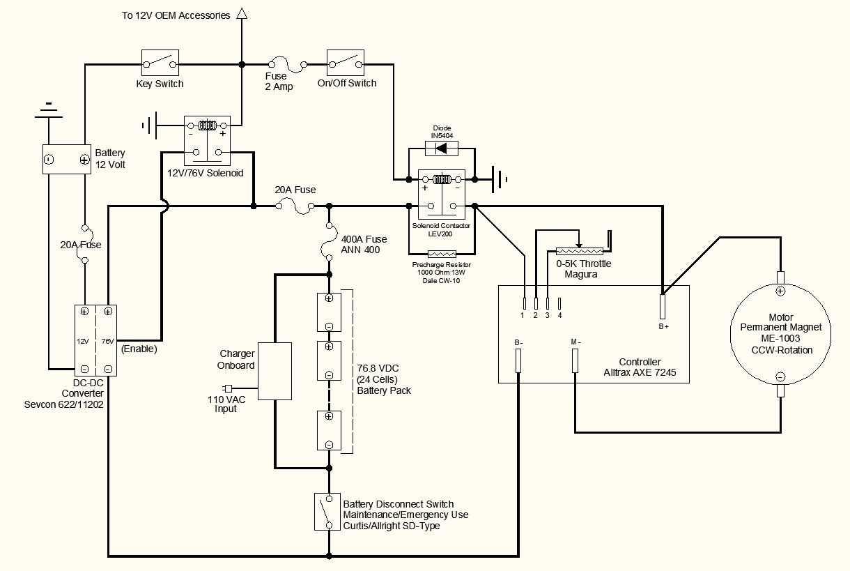 Wiring Schematic Two OptionsRefinements Electric Motorcycle