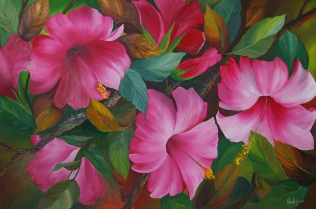 Cuadros pinturas oleos cuadros de flores al oleo for Cuadros pintados al oleo