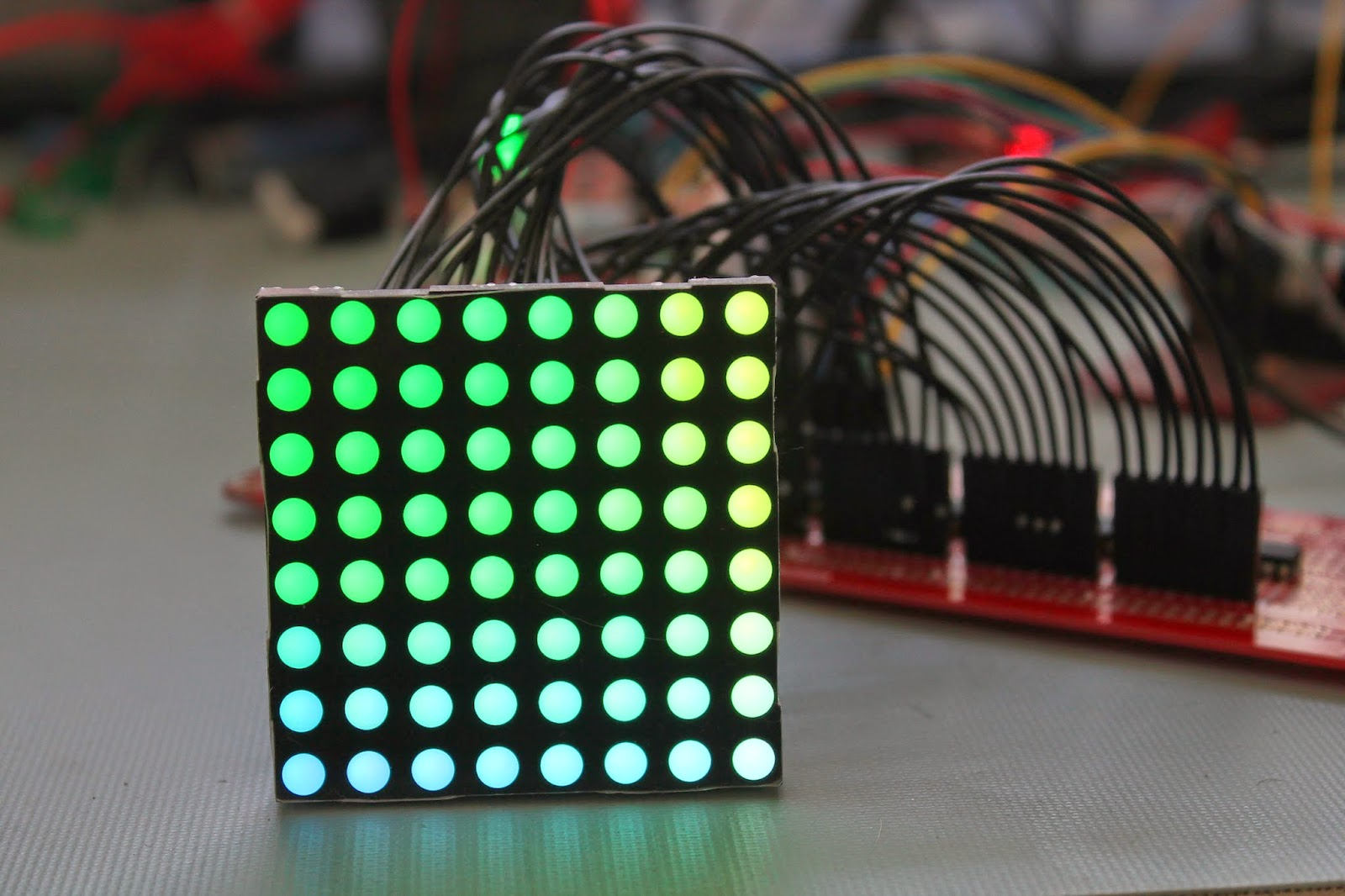 Learning To Walk In The Embedded World Controlling An Rgb Led Array Driver Circuit Matrix With Shift Registers