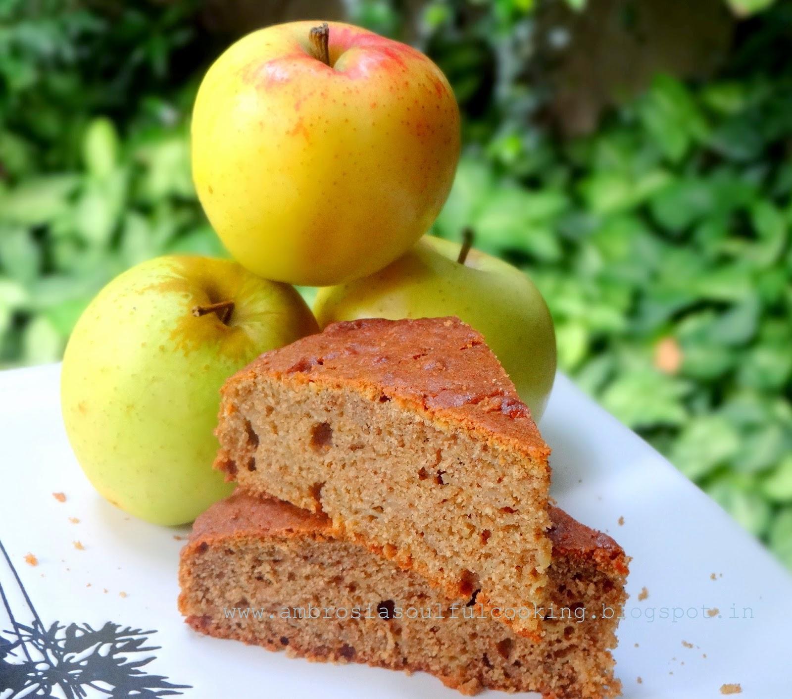AMBROSIA: Easy Apple Cake (With Whole Wheat Flour)