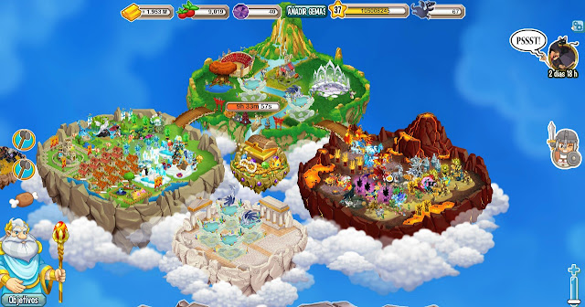 Evento de abrir de dragon city Treasure Hund Island