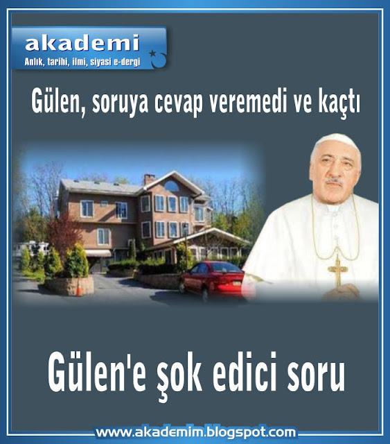 Fethullah Gülen Soruya Cevap Vermek Yerine Kaçtı.Gülen'in villası Hıristiyan misyonerlerin yaz kampı çıktı. Gülen MOON'a mı çalışor?