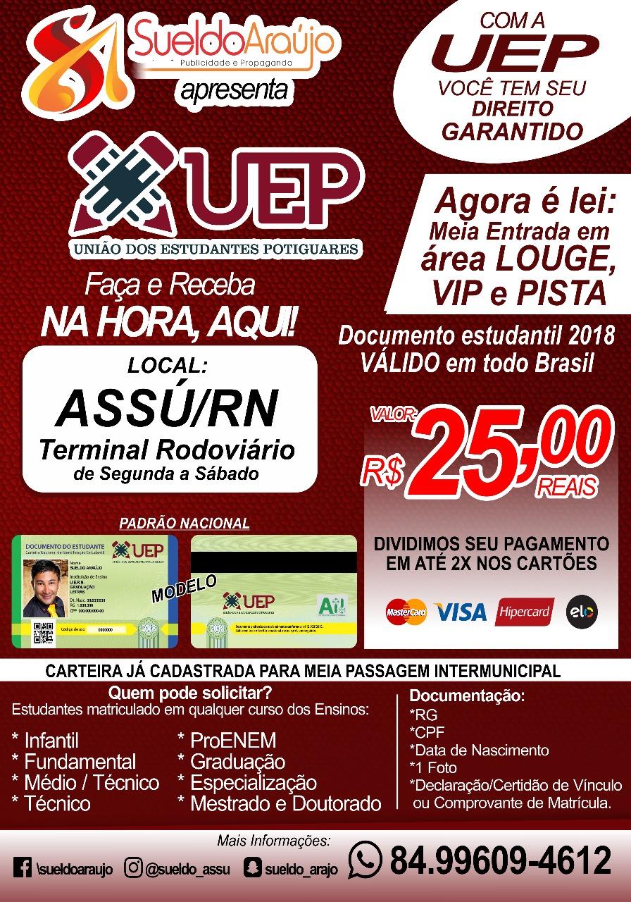 CARTEIRA DE ESTUDANTE 2018 É AQUI!