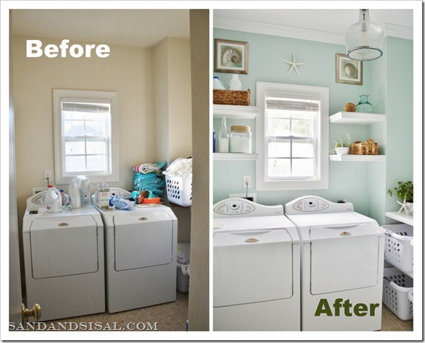 From gardners 2 bergers reader feature laundry room makeover for Laundry room redo blog