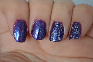 NYC Purple Pizazz & Big City Dazzle and Revlon Stunning nail polish swatches