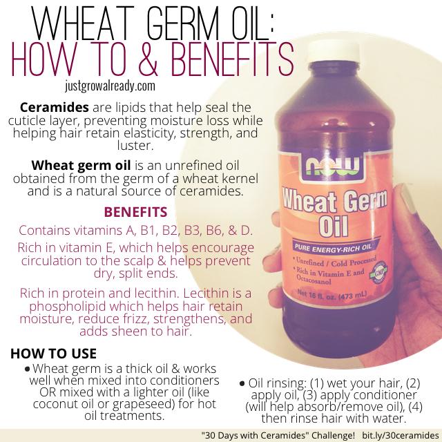 30 Days With Ceramides Wheat Germ Oil Just Grow Already