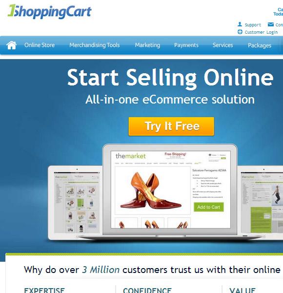 Ecommerce Website Name : 1Shopping Cart