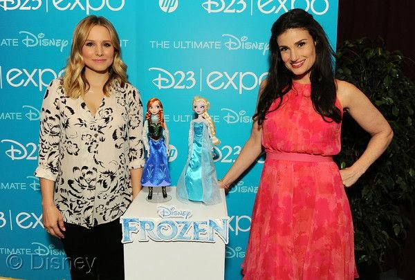 Kristen Bell Idina Menzel Frozen Anna Elsa dolls filmprincesses.filminspector.com