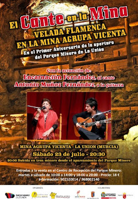 Velada flamenca en la Mina Agrupa Vicenta de La Unión