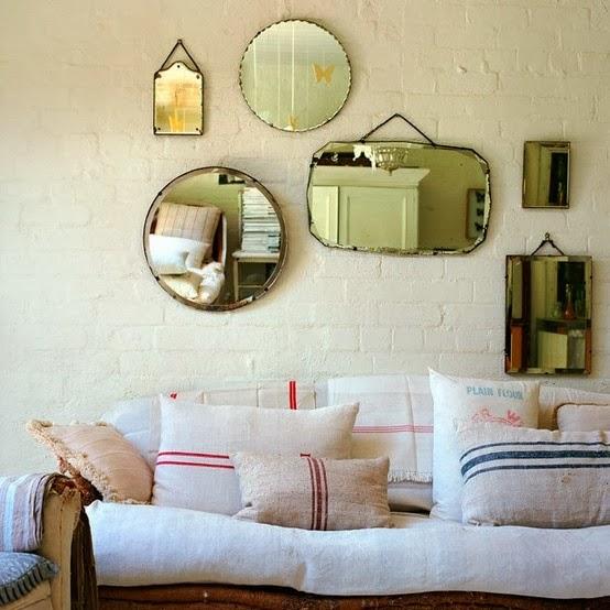 espejos antiguos en salón