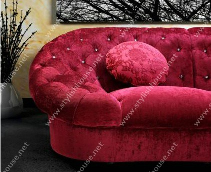 Red Cosmopolitan Mini-Sectional Sofa furniture Set