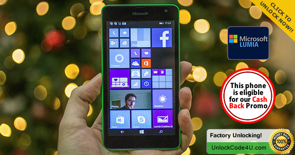 Factory Unlock Code for Microsoft Lumia 535 any network worldwide