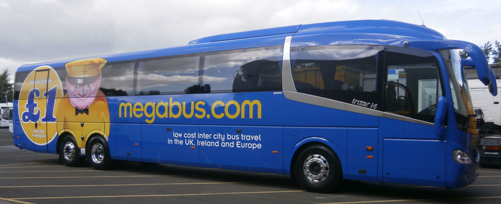 focus transport 15m scania irizar i6 for megabus. Black Bedroom Furniture Sets. Home Design Ideas