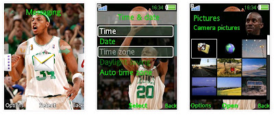 NBA塞爾特人SonyEricsson手機主題for Elm/Hazel/Yari/W20﹝240x320﹞