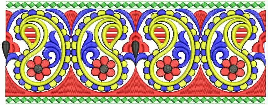 kulturele borduurwerk kant grens
