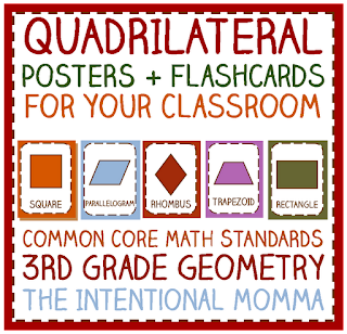 common core 3rd grade 3 math geometry standards bulletin board idea math centers flashcards matching worksheet activity classroom teachers