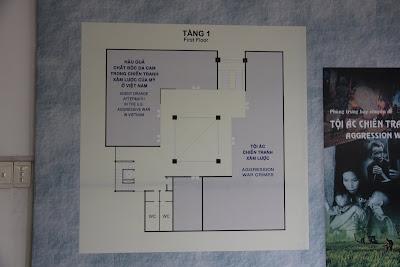 Plano de la primera planta del Museo Guerra de Vietnam