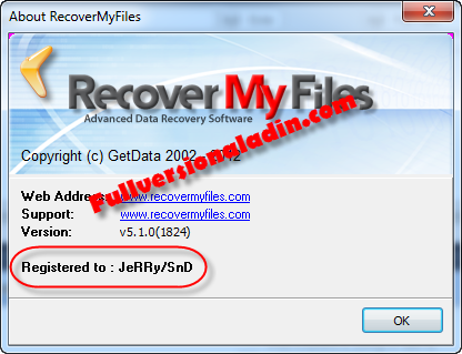 GetData Recover My Files Pro 5.1.0.1824 Full Crack Patch Free Download