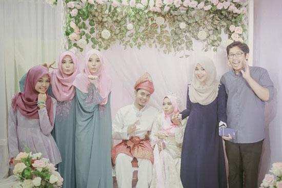 Gambar perkahwinan Yuyu Zulaikha - Blogger Terkenal Malaysia