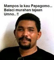 Papagomo atau nama sebenarnya Wan Muhammad Azri Wan Deris
