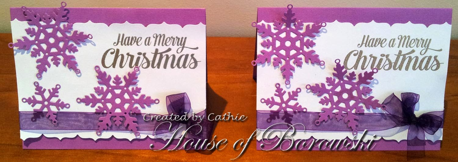 Elizabeth Craft Design Snowflakes, JustRite Clear Extra Grand Holiday Sentiments