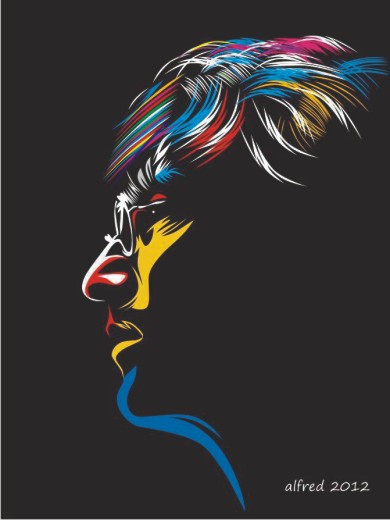 vector-jhon lennon-masuk-karung-Daily Inspiration-#576-Shadowness-Pop Art-coreldraw