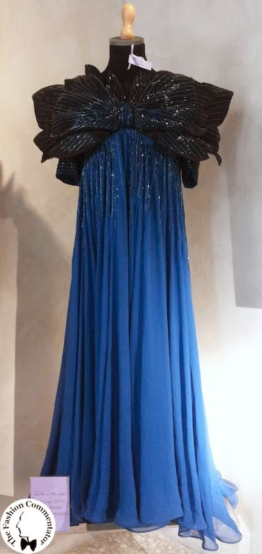 Valentina Cortese - Mostra Milano - Roberto Capucci embroidered dress