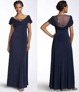 Patra Designer Dress (RN #65518) in Navy Blue
