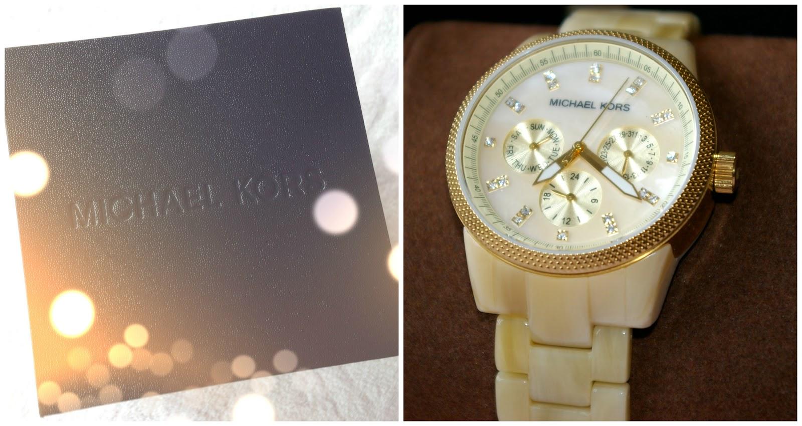 Michael Kors Ladies Ritz Cream Chronograph Watch