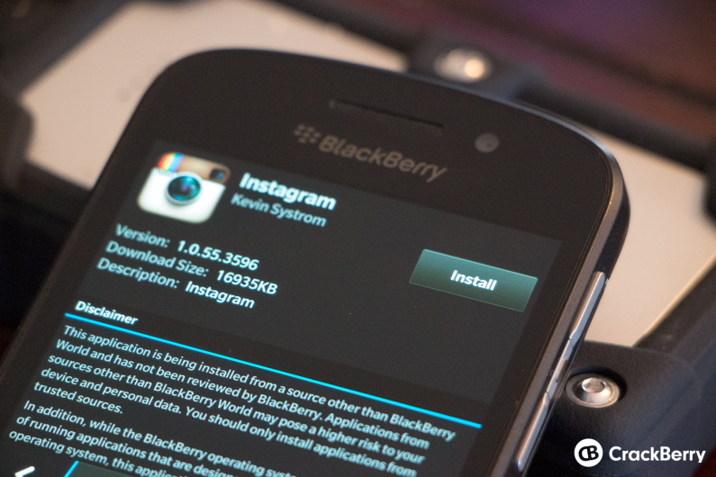 instagram download apk for blackberry