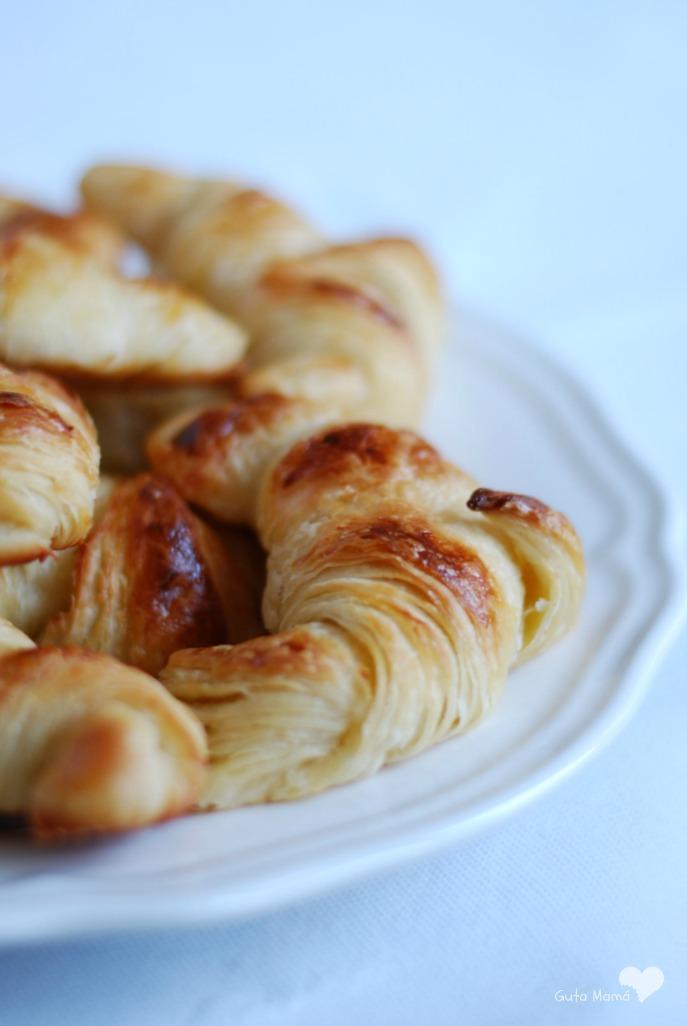 croissant, cruasán, hojaldre casero