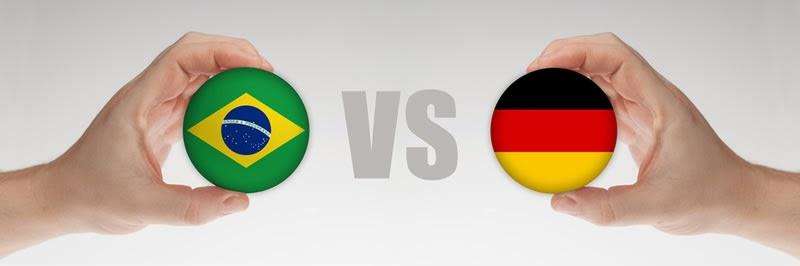 Brasil (eliminado) 1 - 7 Alemania. Alemania pasa a la final barriendo a Brasil con 7 Maracanazos.